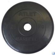 Диск обрезиненный черный MB ATLET d-51 25кг