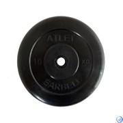 Диск обрезиненный черный MB ATLET d-26 10кг
