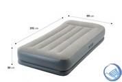 Надувная односпальная кровать Intex 64116 со встроенным насосом 220В (99х191х30)