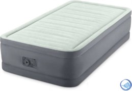 Надувная односпальная кровать с насосом Intex 64902 (99х191х46)