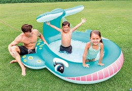 Детский надувной бассейн Кит Intex 57440 (201х196х91)
