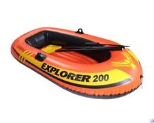 Лодка Эксплорер 200 Intex 58331 с пласт.веслами и руч.насосом (185х94х41)