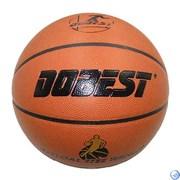 Мяч баск. DOBEST PK400 р.7 синт. кожа, коричн.