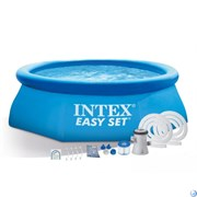 Надувной бассейн Intex 28142 с фильтр-насосом (396Х84см)