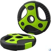 иск пластиковый/цемент чёрный с зелеными вставками (d 26 мм.)