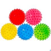 Мяч надувной с шипами d-12 см. (Mix) T07486