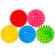 Мяч надувной с шипами d-25 см. (Mix) T07489