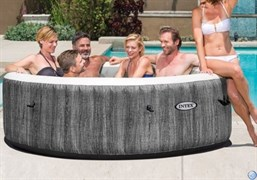 Надувной СПА бассейн (джакузи)  Intex 28442 PureSpa Bubble Therapy Greywood Deluxe (216х71)