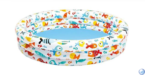 Детский надувной бассейн Аквариум Intex 59431 (132х28с)