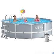 Каркасный бассейн Intex 26706 +фильтр-насос, лестница (305х100)