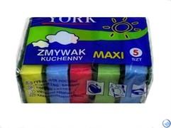 Губка Йорк 65х95х30 д/посуды Макси (5 шт/уп) Польша ( 1шт)