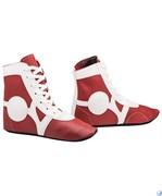 Обувь для самбо Rusco SM-0102, кожа, красный