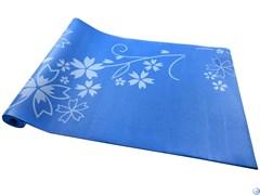 Коврик для йоги и фитнеса YL-Sports 173*61*0,4см BB8304 с принтом, синий