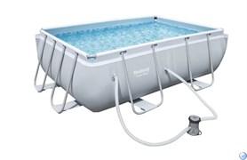Прямоугольный каркасный бассейн Bestway 56629 +  насос-фильтр  (282х196х84)