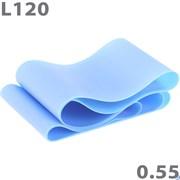 Эспандер ТПЕ лента для аэробики 120 см х 15 см х 0,55 мм. (синий) MTPR/L-120-55