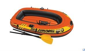 Надувная лодка  Explorer Pro 200 Set Intex 58357 + насос и весла