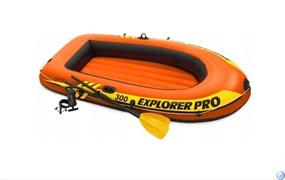 Надувная лодка  Explorer Pro 300 Intex 58358 + насос и весла