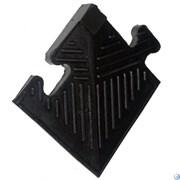Уголок резиновый для коврика, чёрный, 20 мм