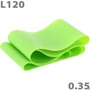 Эспандер ТПЕ лента для аэробики 120 см х 15 см х 0,35 мм. (зеленый) MTPR/L-120-35
