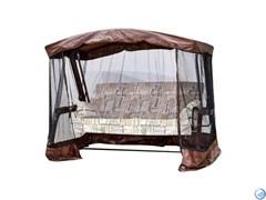Тент крыша + москитная сетка для садовых качелей Милан/Милан Премиум, Мерида (220х120х176) шоколад