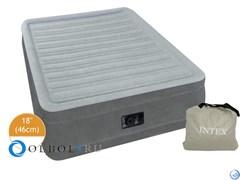Кровать надувная двуспальная со встроенным насосом 220В Intex 67770