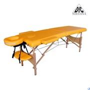 Массажный стол DFC NIRVANA, Optima, дерев. ножки, цвет горчичный (Mustard),  TS20110S_M