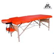 Массажный стол DFC NIRVANA, Relax, дерев. ножки, цвет оранжевый (Orange),  TS20111_Or
