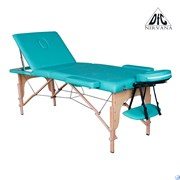 Массажный стол DFC NIRVANA, Relax Pro,  дерев. ножки, цвет зеленый (Green), TS3021_G