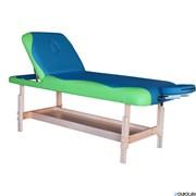 Массажный стационарный стол DFC NIRVANA, SUPERIOR2, дерев. ножки, 2 секции, цвет бирюз.