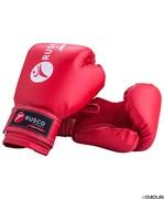Боксерские перчатки RUSCO SPORT 4-10 oz, к/з, красный