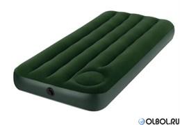 Матрас надувной Jr.Twin со встроенным ножным насосом Intex 67223 (185х76х28)