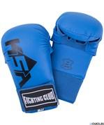 Накладки для карате Slam Blue, к/з, синий