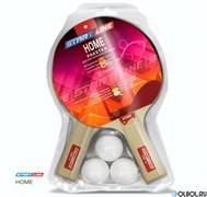 Набор для н/т Start Line HOME (2 ракетки + 3 мяча + сетка + крепеж) * 711786