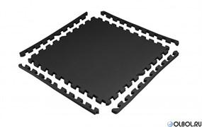 Покрытие защитное под тренажеры/коврик для фитнеса 5503LW, черный