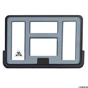Баскетбольный щит DFC 112x75см (б/крепления) BD44P