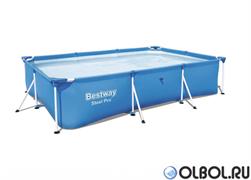 Прямоугольный каркасный бассейн Bestway 56403 (259х170х61)