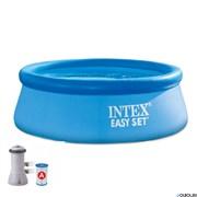 Надувной бассейн Intex 28132 + фильтр-насо
