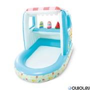 Детский бассейн Intex 48672 Ice Cream Stand Playhouse (127х102х99)