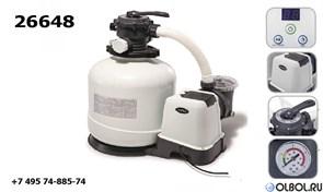 Песочный фильтр-насос Intex 26648 для бассейна (8000л/ч)