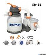 Песочный фильтр насос для бассейна (9841 лчлч) Bestway 58486