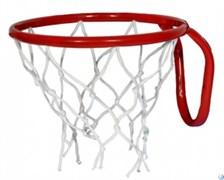Кольцо баскетбольное с сеткой №3. D кольца - 295мм.