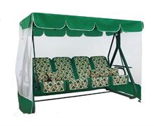 Качели садовые Дефа Люси зеленый с АМС (труба 63мм) (243,5x134x172)