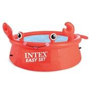 Надувной круглый бассейн Easy Set ,  Счастливый краб,  Intex 26100 (183х51)