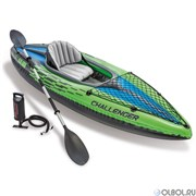 Лодка надувная, весла+сеточка для багажа, 1-местная,CHALLENDGER Intex 68305