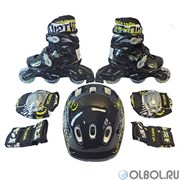 Набор: коньки ролик, защита, шлем Action PW-120B