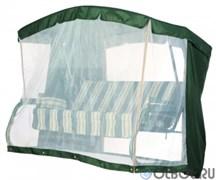 Тент крыша + москитная сетка для садовых качелей Палермо Премиум  зеленый