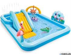 """Детский надувной игровой центр Intex 57161 """"Приключения в джунглях"""" (244*198*71)"""
