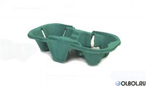 Держатель для 2-х бумажных стаканов зеленый (150 шт)