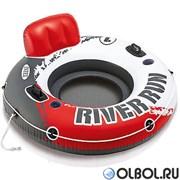 Надувной круг River Run с держателем 135см  Intex 56825