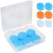 Беруши силиконовые в боксе 6 штуки (оранжевый) B32155